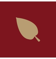 The leaf icon nature symbol flat vector