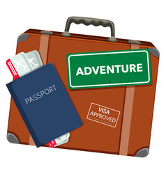 Travel object on white background vector