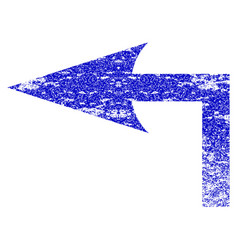 Turn left grunge textured icon vector