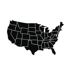 USA map with states icon vector image