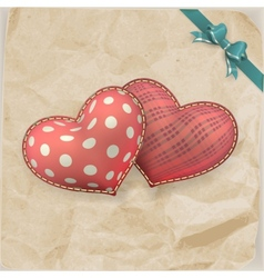 Vintage handmaded valentines day toy EPS 10 vector