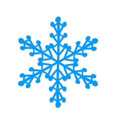 winter snowflake decoration for christmas and new vector image