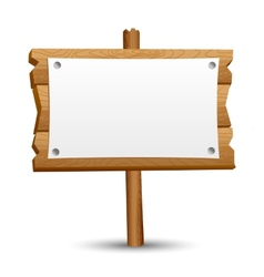 Wooden blank sign vector image