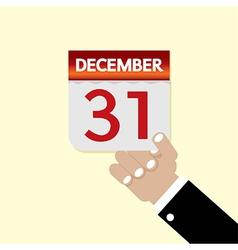 31st December Calendar vector image