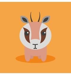 Cute Cartoon gazelle vector image
