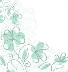 floral backer blue vector image