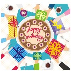 hands happy birthday vector image