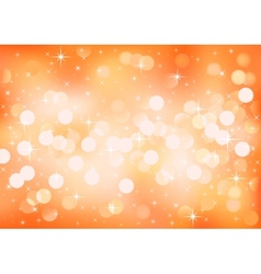 Orange sunny festive lights background vector image vector image