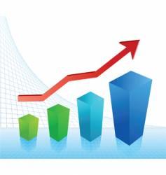 business profit chart vector image