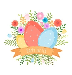 Easter spring background vector image vector image