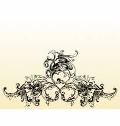 flourish illustration vector image vector image