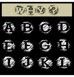 Grunge Alphabet A to L vector image vector image