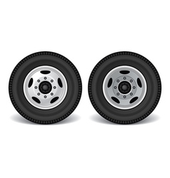 heavy duty truck rims vector image