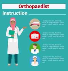 Medical equipment instruction for orthopaedist vector