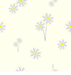 Seamless pattern daisy flower vector image
