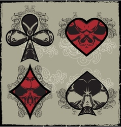 Suits Skulls vector image vector image