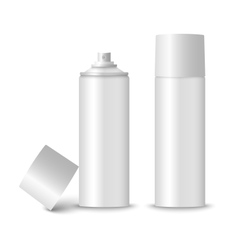 Blank white spray bottle template vector image