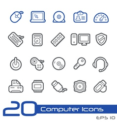 Computer Devices Outline Series vector image vector image