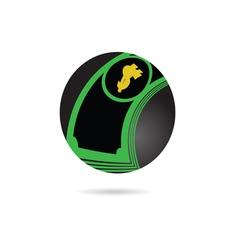 dollar icon color vector image vector image