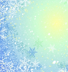 frosty background vector image vector image