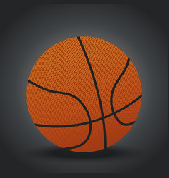 isolated realistic basketball design on gray vector image