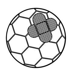 Isolated toy soccer ball damaged design vector image vector image