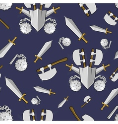 Ancient weapon cartoon background vector image vector image