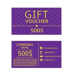 Gift voucher card vector image