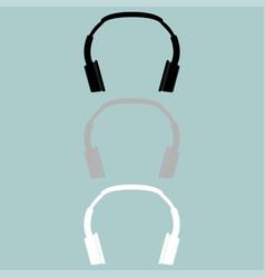 headphones earphones double head receiver vector image