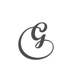 Letter G logo design template vector image vector image
