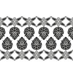 Seamless victorian floral border vector image