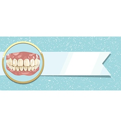 Teeth and ribbon vector image vector image