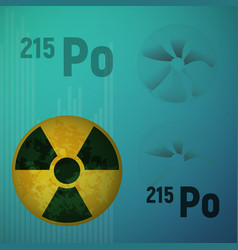 A radioactive isotope of polonium 215 vector