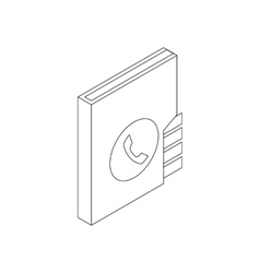 Address book icon isometric 3d style vector