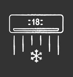 Air conditioner chalk icon vector