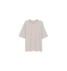 Beige t-shirt vector