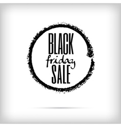 Black friday sales announcement in black charcoal vector