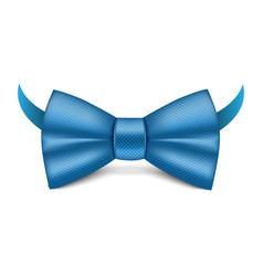 Blue bowtie icon realistic style vector