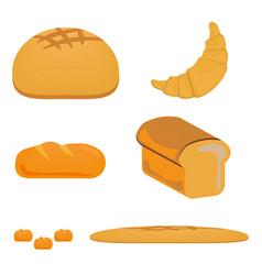 Bread icon design set food fresh bakery loaf vector