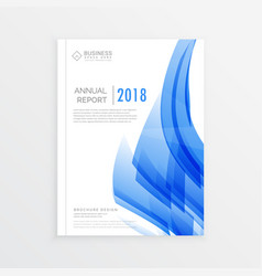 business annual report cover page template in a4 vector image