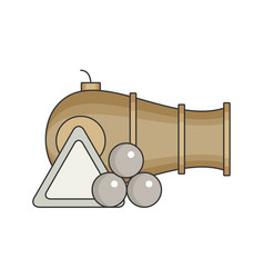 Cannon flat vector