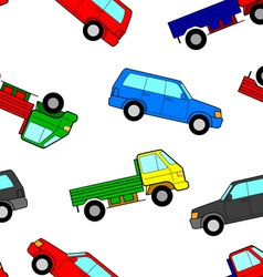 Car seamless wallpaper vector image