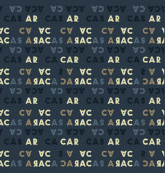 Caracas creative pattern vector