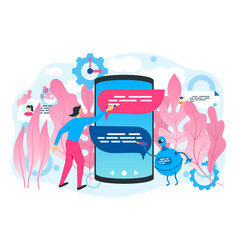 chatbot technology concept vector image