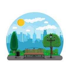 City park concept vector