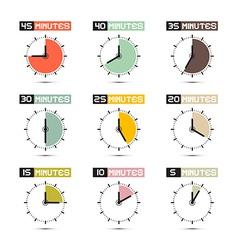 Clock Face Set vector image