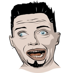 Crazy face vector