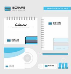 credit card logo calendar template cd cover diary vector image