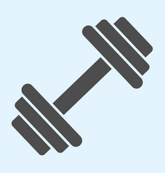 Dumbbells solid icon heavy weights barbel sport vector