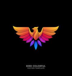 Eagle colorful designs template vector